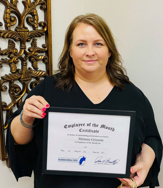 Richardson Medical Employee of the Month